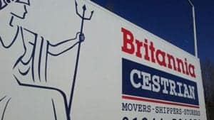 image of the side of Britannia Cestrian van