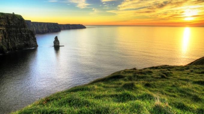 image of Irish coast and sea