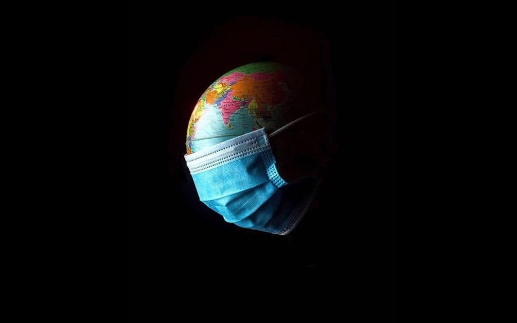 image of world with face mask