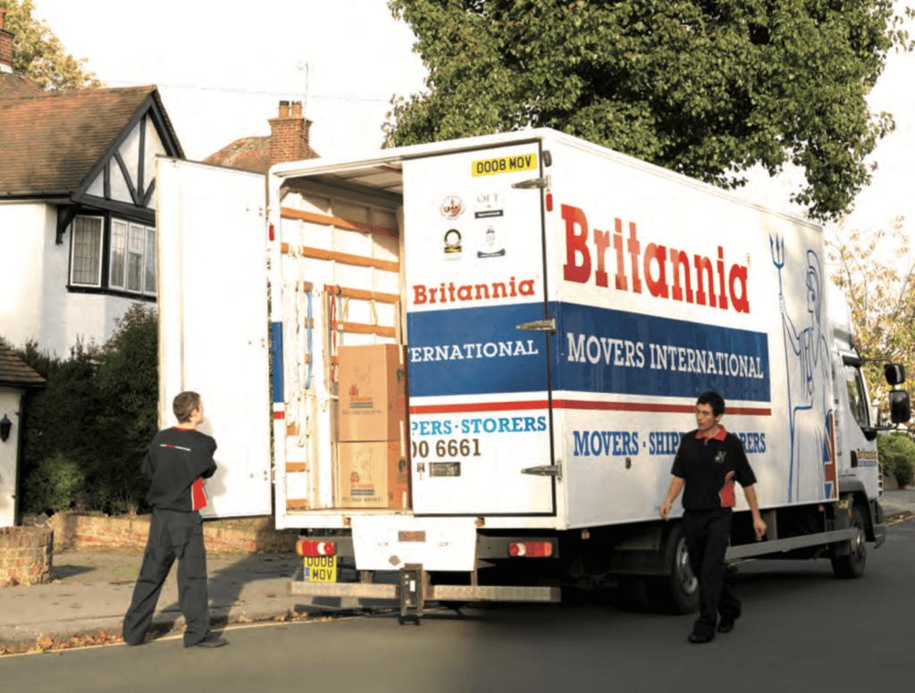image of men loading removals van